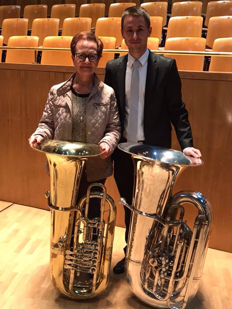 National Orchestra of Spain tubist with his mom