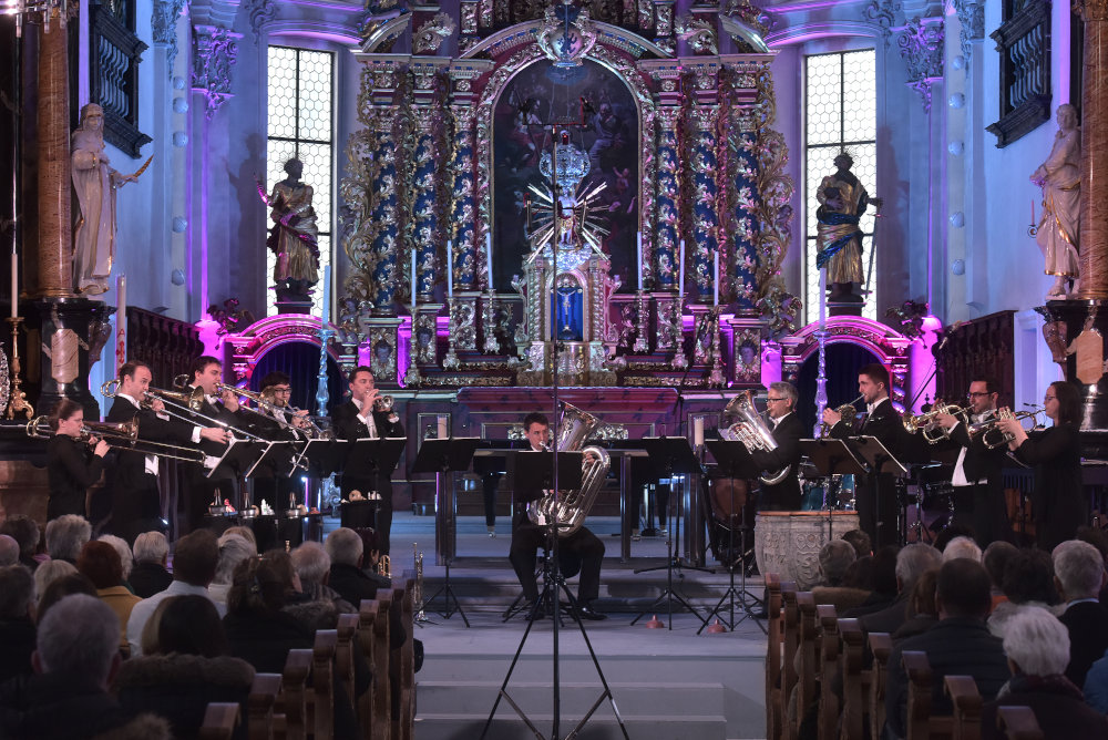 Performing with WorldBrass at the SwissChamber MusicCircle. March 2018.